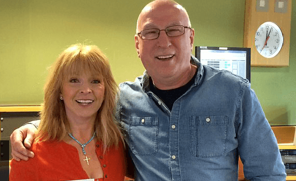 Ken Bruce and Toyah Willcox