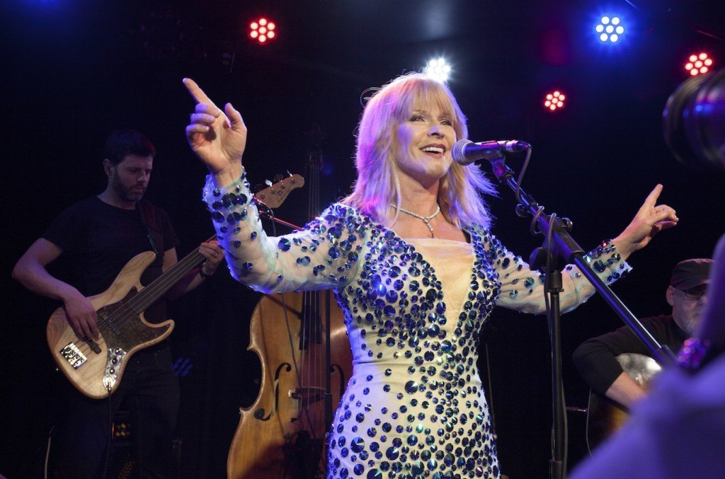 Toyah Wilcox performs at The Water Rats for Vintage TV. 24/2/16.Copyright Photo Tom Pilston.